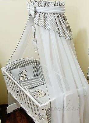 10pcs CRIB bedding set /BumperALL ROUND/sheet/duvet/CANOPY/FREE STANDING HOLDER