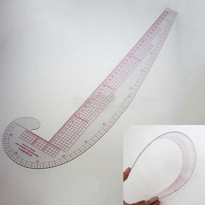3 In 1 Styling Design Soft Plastic Ruler French Curve Hip Straight Ruler Comma#D