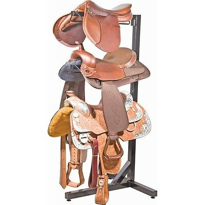 3 Tier Easy-Up Portable Saddle Rack Horse Equestrian Storage Heavy Duty