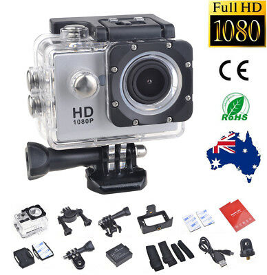 Sports Camera Video Helmet Action Cam  HD 1080P Waterproof +Bicycle Fit Mount