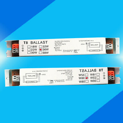 220-240v AC 2x36w Wide Voltage T8 Electronic Ballast Fluorescent Lamp Ballasts