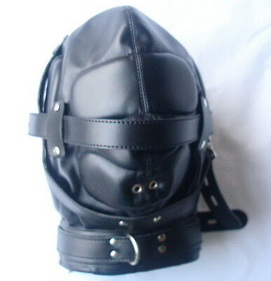 Schalldichte Kunstleder Maske/ Soundproof Leather Hood