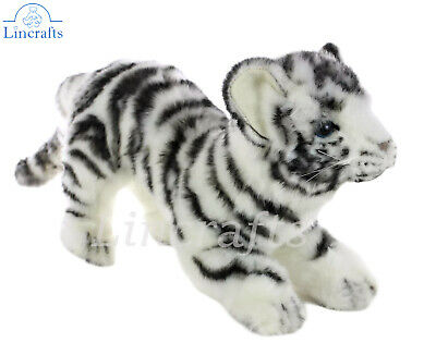 Hansa Prowling White Tiger Cub 6409 Soft Toy Sold by Lincrafts Established 1993