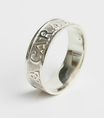 Ladies Sterling Silver Irish Handcrafted Celtic Trinity Knot Mo Anam Cara Ring