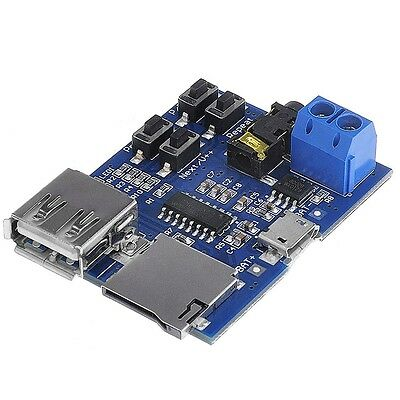 MP3 Format TF Card U Disk Decoder Decoding Audio Player Amplifier Module