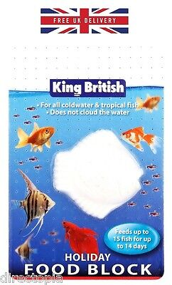 King British 14 Day Holiday Vacation Fish Food Feeder Block All Water Types