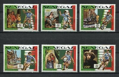 s6488) SEN EGAL 1990 MNH** World Cup Football'90 - Coppa del Mondo Calcio 6v.