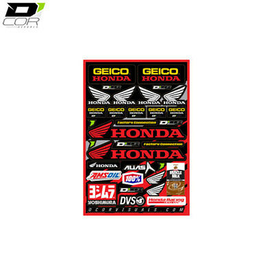 D Cor Logo Decal Sticker Sheet Team Geico Honda 12mm Suitable For Honda CR 80 RB