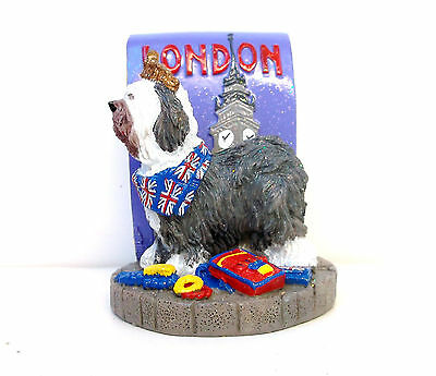 Old English Sheepdog-London-Resin Figurine-Icing 2002 by Claire's-Excellent