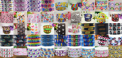 Wholesale! 1/5/10yds 7/8'' (22mm) printed grosgrain ribbon Hair bow sewing #5