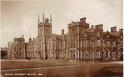 Northern Ireland Postcard Belfast Queens University Real Photo RPPC  I0 029