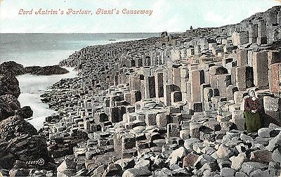 Northern Ireland Postcard Giants Causeway Lord Antrims Parlour  E0 024