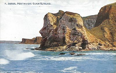 Northern Ireland Postcard Portrush Giants HEad  J0 011