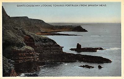 Northern Ireland Postcard Giants Causeway Portrush From Spanish HEad E0 034