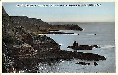 Northern Ireland Postcard Giants Causeway Towards Portrush From Spanish Head F0