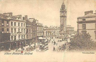 Northern Ireland Postcard Belfast Albert Mmorial H0 024