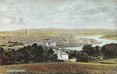 Northern Ireland Postcard Londonderry Great View J0 029