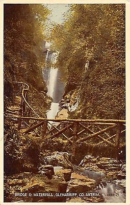 Northern Ireland Postcard Bridge & Waterfall Glenarriff Co Antrim  J0 017