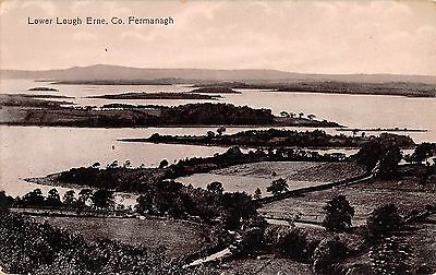 Northern Ireland Postcard Lower Lough Erne Co Fermanagh RPPC J0 031