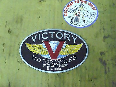 """Victory (Polaris) P/n#p2835930, Tank Badge Patch-Small (5""""),nos.#"""