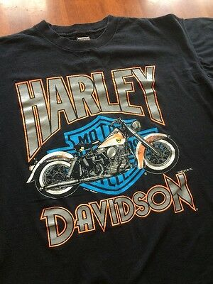Vintage 1980s/Early 90s HARLEY DAVDSON T SHIRT Motorcycle FUN WEAR Ward XL
