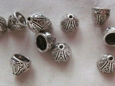 20 Antique Silver Coloured 9x9mm Cone Bead Caps #bc3280 Combine Post-See Listing