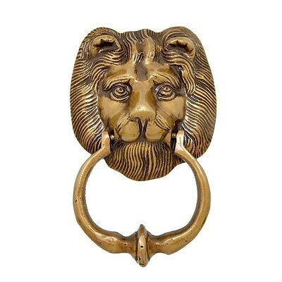 Lion Door Knocker Solid Brass Rare Collectibles Ornament Home Decor Animal New