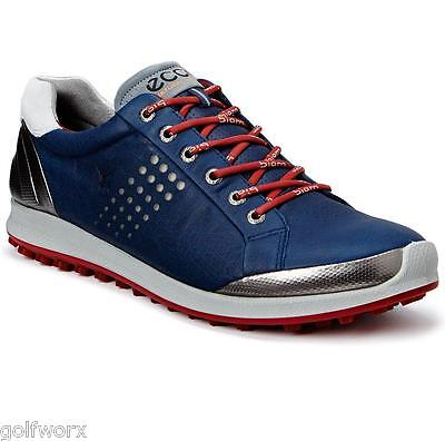 New 2016 Ecco Biom Hybrid 2 Golf Shoes Navy