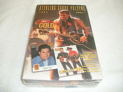 1993 STERLING COUNTRY GOLD TRADING CARDS UNOPENED BOX 36 Packs/8 Cards