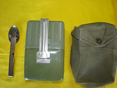 3 In 1 Serbian Mess Kit, Chow Kit And Canteen Kit Nested Together W/ Carry Case