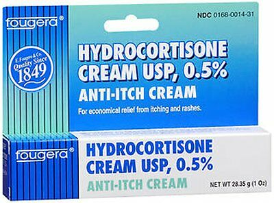 Fougera Hydrocortisone Anti-Itch Cream USP 0.5% 1 oz Each