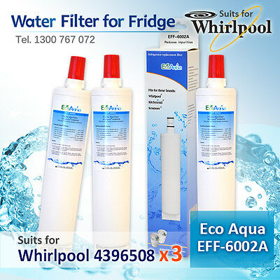 3x 4396508 WHIRLPOOL FRIDGE ICE&WATER  FILTER REPLACEMENT for 66D25DCHXHS