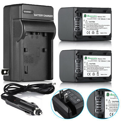 NP-FH70 Battery+Charger for Sony HandyCam DCR-SR42 SR45 NP-FH40 NP-FH60 NP-FH90