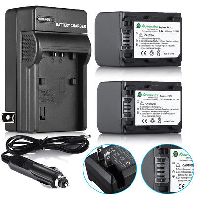 NP-FH70 Battery+Charger for Sony HandyCam DCR-SR42 SR45 NP-FH60 NP-FH40 NP-FH90