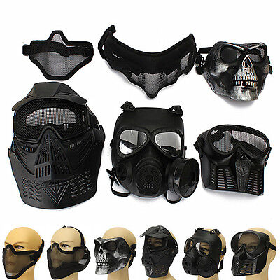 Tactical Face Protection Safety Gear Mask Guard for Paintball Airsoft Game Adult
