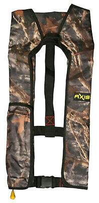 AXIS INFLATABLE LIFEJACKET ✱ CAMO ✱ 150N PFD1 OFFSHORE Boat Manual Life Jacket