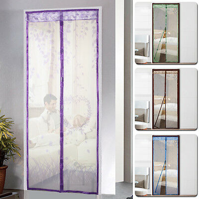 Hands Free Magic Screen Net Door w/ Magnets Anti Mosquito Fly Bug Mesh Curtains
