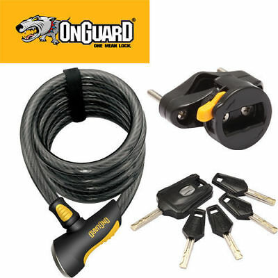 Onguard Doberman Coil Cable Key Bicycle Lock 185Cm X 10Mm
