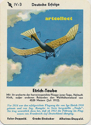 Single Vintage German Game Card: Etrich-Taube
