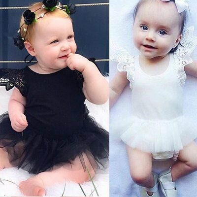 Newborn Toddler Infant Baby Girls Romper Dress Jumpsuit Bodysuit Clothes Outfits