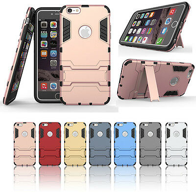 Fashion Shockproof Heavy Duty Armor PC Back Case Kickstand Cover for Cellphone