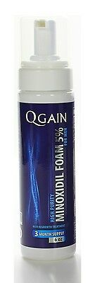 QGAIN MINOXIDIL FOAM 5% 3 Months Supply  FREE SHIPPING WORLDWIDE