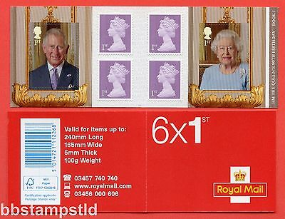 PM50 2016 6 x 1st HM The Queen's 90th Birthday Self Adhesive Booklet