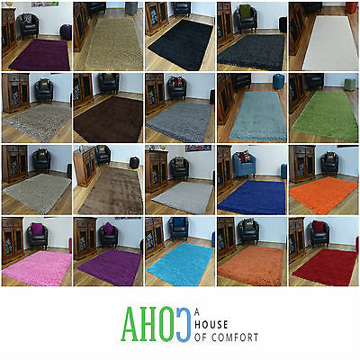 New 5cm Modern Small X Large Shaggy Area Rugs Mat Thick Soft Pile Mats Carpet