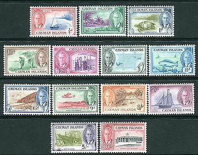 CAYMAN ISLANDS-1950  A mounted mint set to 10/- Sg 135-147