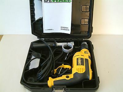 DeWALT DWD024K VARIABLE SPEED PERCUSSION DRILL IN CARRY CASE 240v