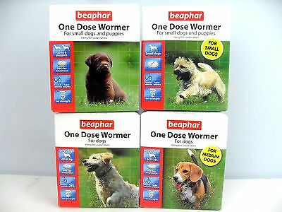 Beaphar One Dose Wormer Small, Medium and Large Dogs Dog Worming Tablets