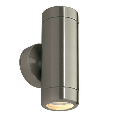 Saxby Endon - Odyssey - 35W Twin Stainless Steel IP65 Outdoor Up Down Wall Light