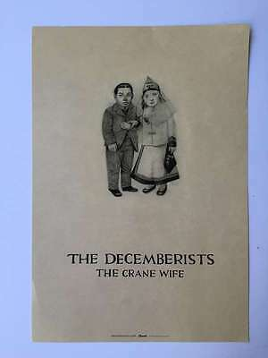 THE DECEMBERISTS Crane Wife 2006 Promo 11x16 Poster on Cardstock