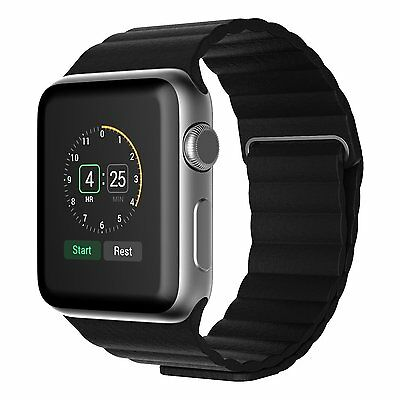 JETech 2180 Apple Watch Band 42mm Magnetic Genuine Leather Loop Strap Band
